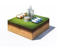 Usine de raffinerie de pétrole illustration libre de droits