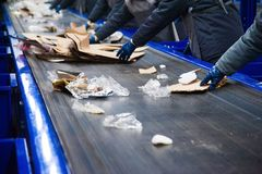 Usine de recyclage des déchets image libre de droits