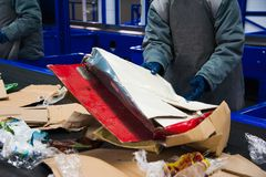 Usine de recyclage des déchets photos stock