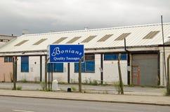 Usine de saucisse de Bonians, Dagenham Images libres de droits