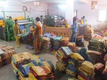 Usine de textile dans l'Inde photographie stock