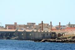 Usine de thon dans Favignana Photos libres de droits