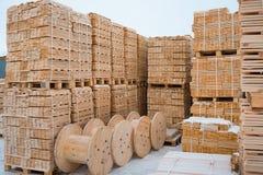 Usine de traitement de bois Image libre de droits