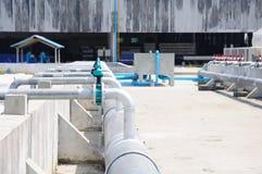 Usine de traitement des eaux résiduaires Photos libres de droits