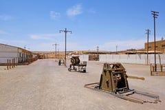 Usine de travaux de salpêtre abandonné de Humberstone et de Santa Laura, près d'Iquique, le Chili du nord, Amérique du Sud Photo stock