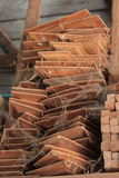 Usine en bois de moulin de tradition en Thaïlande Photo stock
