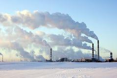 Usine en hiver Image libre de droits