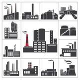 Usine et industrie illustration stock