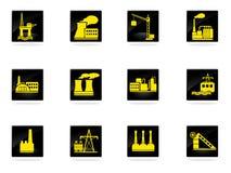 Usine et symboles d'industrie Photographie stock