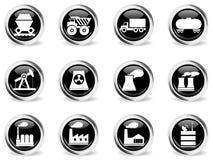Usine et symboles d'industrie Image libre de droits