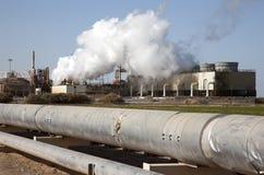 Usine géothermique la Californie images libres de droits