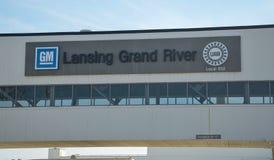 Usine grande de rivière de GM de Lansing Photographie stock libre de droits