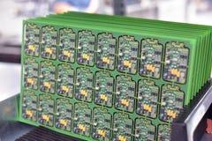 Usine industrielle pour l'ensemble de la microélectronique - détail de photos stock