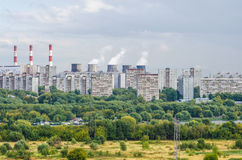 Usine Moscou de station d'énergie Photos stock