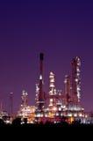 Usine pétrochimique de raffinerie de pétrole Photo libre de droits