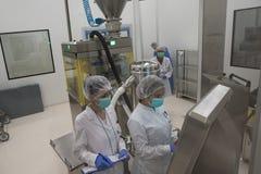 Usine pharmaceutique pour la production des médicaments génériques Photos libres de droits