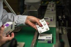 Usine pharmaceutique pour la production des médicaments génériques Image stock