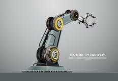 Usine robotique de main de bras de robot de machine Photos stock
