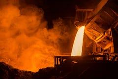 Usine sidérurgique Image libre de droits