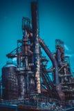 Usine sidérurgique abandonnée Images libres de droits
