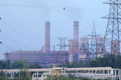 Usine sidérurgique de Bhilai, Bhilai Chhattishgarh image libre de droits