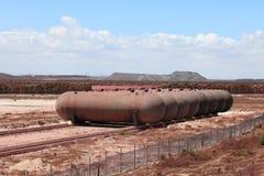 Usine sidérurgique de Saldanha, le Cap-Occidental, Afrique du Sud Image libre de droits