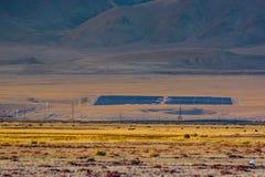 Usine solaire dans Kosh-Agach images libres de droits