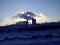 usine thermo d'énergie photographie stock