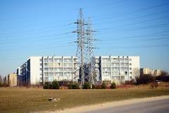 Usines électriques dans le secteur de Justiniskes de ville de Vilnius Images stock