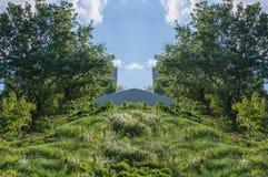 Usines, arbres et bruyère Image libre de droits