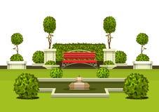 Usines de jardin de parc Photo stock