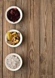 Usines de sel et de feuillage de mer dans un pot Photographie stock