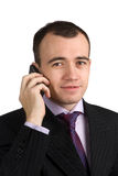 Usinessman with a mobile phone Royalty Free Stock Photos