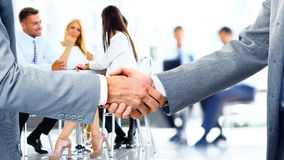 Usinessmen shaking hands Stock Image