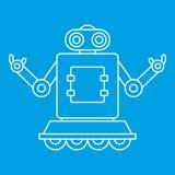 Usinez le robot sur l'icône de roues, style d'ensemble Photo libre de droits