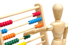 Using an Abacus Royalty Free Stock Image