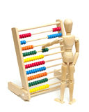 Using an Abacus Royalty Free Stock Images