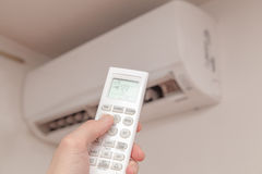 Using air conditioner Royalty Free Stock Photography