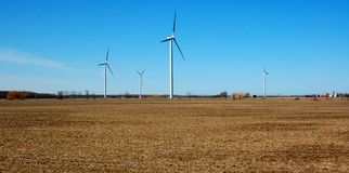 Using Alternative Energy - Wind Turbines Stock Photography