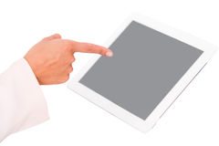 Using apps on a tablet computer Stock Photography