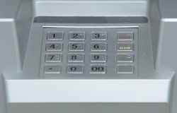 Using atm keypad Royalty Free Stock Photography
