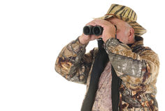 Using binoculars Royalty Free Stock Images