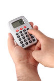 Using Calculator Royalty Free Stock Images