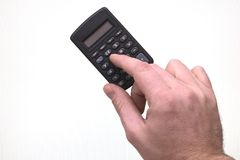 Using a calculator Stock Photography