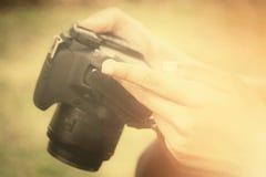 Using a camera Royalty Free Stock Image