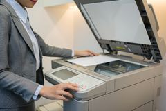 Using copier Stock Photo