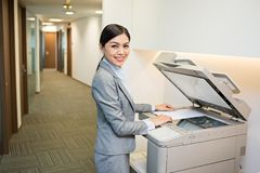 Using copy machine Royalty Free Stock Photos