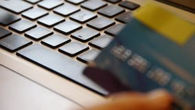 Using Credit Card For Shopping Internet Shop. Gh2_08073 stock footage