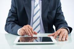 Using digital tablet Stock Photo