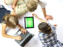 Using a Digital Tablet Stock Photos
